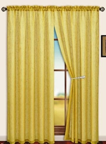Sterling Rod Pocket Curtain Panel (Gold)