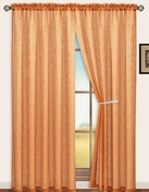 Sterling Rod Pocket Curtain Panel (Orange)