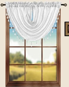 Sterling Rod Pocket Waterfall Valance (Beige)
