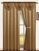 Sterling Rod Pocket Waterfall Valance (Brown)