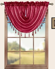 Sterling Rod Pocket Waterfall Valance (Burgundy)