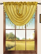 Sterling Rod Pocket Waterfall Valance (Gold)
