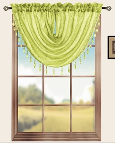 Sterling Rod Pocket Waterfall Valance (Lime Green)