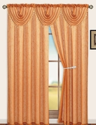 Sterling Rod Pocket Waterfall Valance (Orange)