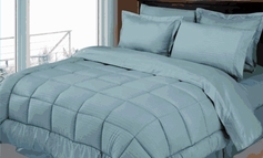 Stripe Comforter/Bed in a Bag Set (Light Blue)