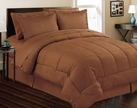 Stripe Comforter/Bed in a Bag Set (Chocolate Brown)