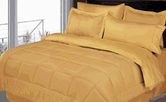 Stripe Comforter/Bed in a Bag Set (Gold)