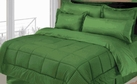 Stripe Comforter/Bed in a Bag Set (Dark Green)