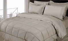 Stripe Comforter/Bed in a Bag Set (Grey)