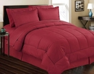 Stripe Comforter/Bed in a Bag Set (Brick Red)