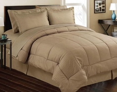 Stripe Comforter/Bed in a Bag Set (Taupe/Mocha)