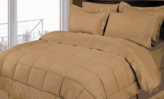 Stripe Comforter/Bed in a Bag Set (Taupe)