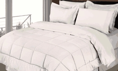 Stripe Comforter/Bed in a Bag Set (White)