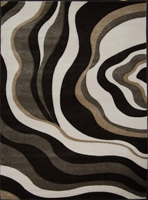 Sumatra Waves Area Rug (Dark Brown) 5x8