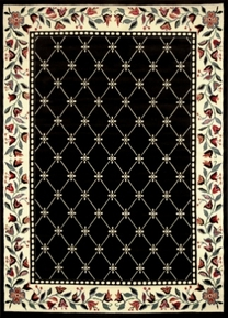 Traditional Premium 5x8 Area Rug (Black)