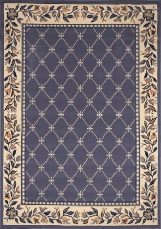 Traditional Premium 5×8 Area Rug (Country Blue)