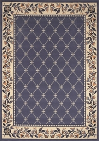 Traditional Premium 5x8 Area Rug (Country Blue)