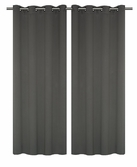 Tranquility (Bella) Foamback Blackout Panels  - Charcoal Grey