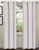 Tresil Linen Blend Jacquard Curtain  Set of 2 (Taupe)
