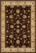 Triumph All Over Leaf 4x6 Area Rug (Brown)