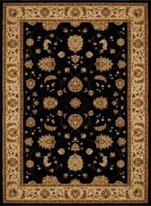 Triumph All Over Leaf 5x8 Area Rug (Black)