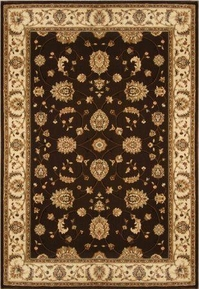 Triumph All Over Leaf 5x8  Area Rug (Brown)