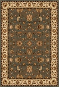 Triumph All Over Leaf 5x8 Area Rug (Grey)