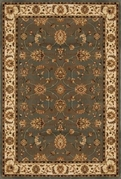 Triumph All Over Leaf 8x11 Area Rug (Grey)