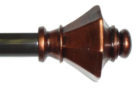 tuscan decorative curtain rod copper moshells