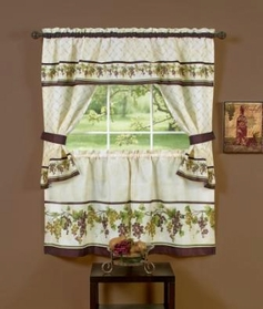 Tuscany Kitchen Curtain Set