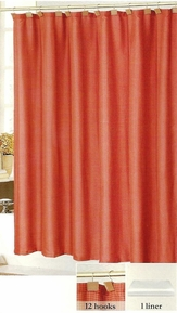 Tyson 14 Piece Set Shower Curtain (Burgundy)