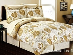 Vanessa Floral Leaf Bed in a Bag Set