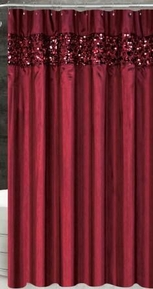 Vegas Shower Curtain (Burgundy)
