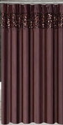 Vegas Shower Curtain (Chocolate Brown)