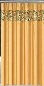 Vegas Shower Curtain (Gold)