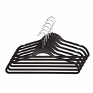 Velvet Anti-Slip Hangers - 6 pack (Black)