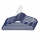 Velvet Anti-Slip Hangers - 6 pack (Blue)