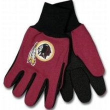 Washington Redskins Two Tone Gloves