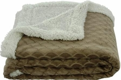 Waves 50x60 Sherpa Lined Throw (Mocha)