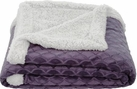 Waves 50x60 Sherpa Lined Throw (Purple)