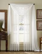 White Sheer  Curtain Scarf