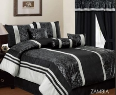 Zambia Comforter Set (Black)