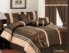 Zambia Comforter Set (Chocolate Brown)