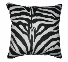 "Zebra Faux Fur Throw Pillow (18""x18"")"