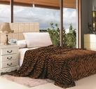 Zebra Print Blanket (Brown & Black)
