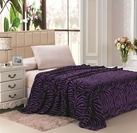 Zebra Print Blanket (Purple & Black)