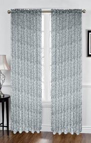 Zebra Sheer Curtain (Black and White)