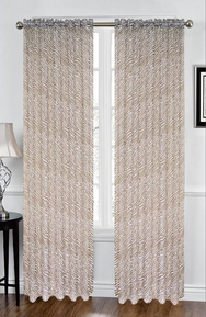 Zebra Sheer Curtain (Chocolate and White)