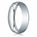 6MM Classic Domed 10K White Gold Milgrain Comfit Fit Wedding Band