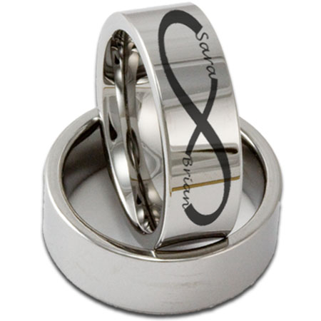 personalized tungsten wedding rings